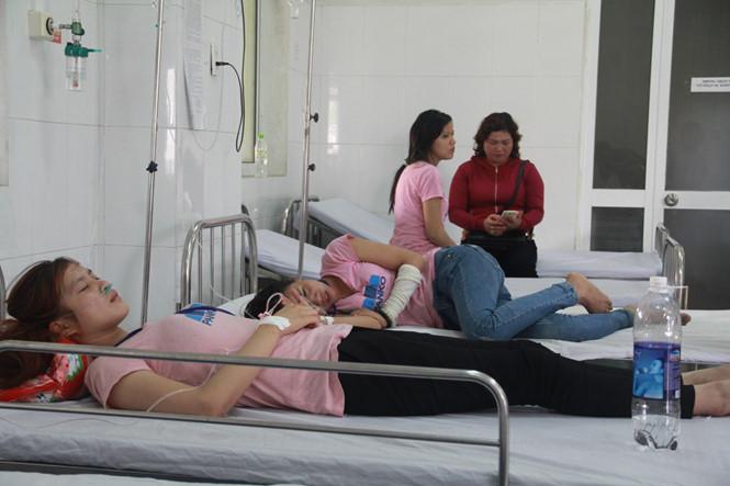 Nhiều công nhân đang điều trị tại bệnh viện. (Ảnh: internet)