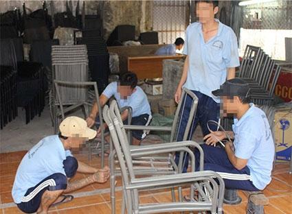 Học viên tại Trung tâm Giáo dục-Lao động và Dạy nghề tỉnh Bà Rịa-Vũng Tàu