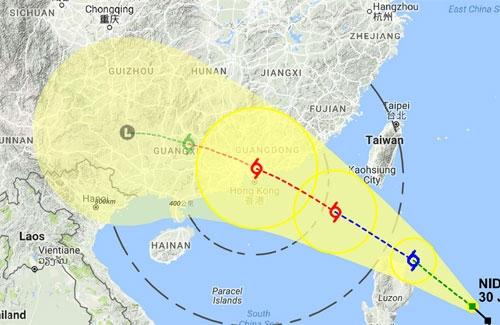 Bão số 2 Nida đã đổ bộ vào tỉnh Quảng Đông, Trung Quốc