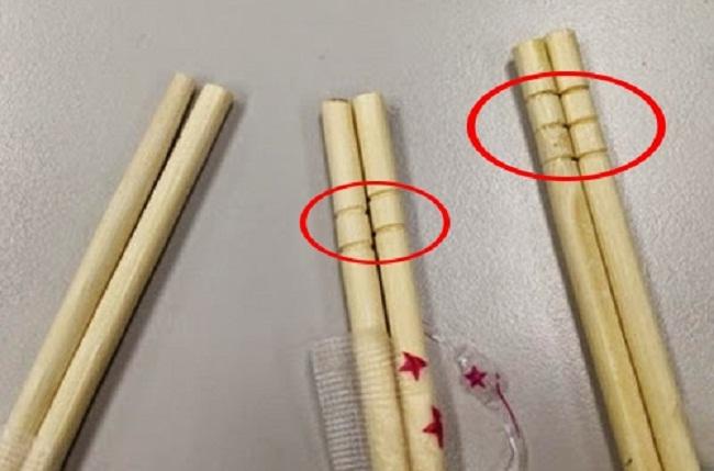 Sự thật bất ngờ về những vòng tròn khắc trên đầu đũa dùng 1 lần - ảnh 2