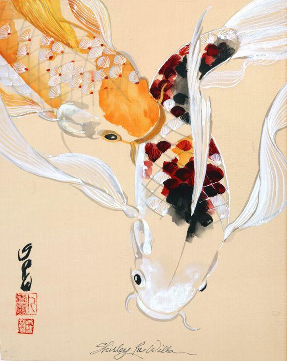 Bộ sưu tập cá chép trong tranh gửi thông điệp chúc phúc ngày xuân - H9