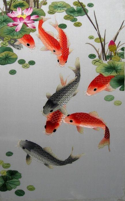 Bộ sưu tập cá chép trong tranh gửi thông điệp chúc phúc ngày xuân - H10