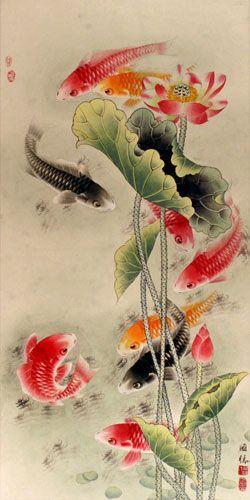 Bộ sưu tập cá chép trong tranh gửi thông điệp chúc phúc ngày xuân - H11