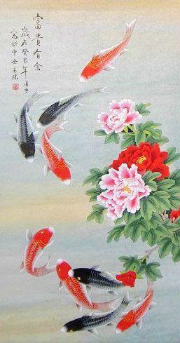 Bộ sưu tập cá chép trong tranh gửi thông điệp chúc phúc ngày xuân - H12