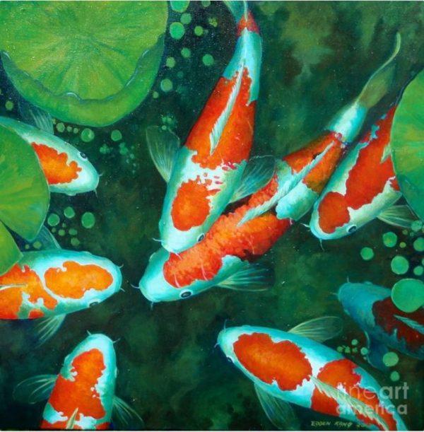 Bộ sưu tập cá chép trong tranh gửi thông điệp chúc phúc ngày xuân - H1