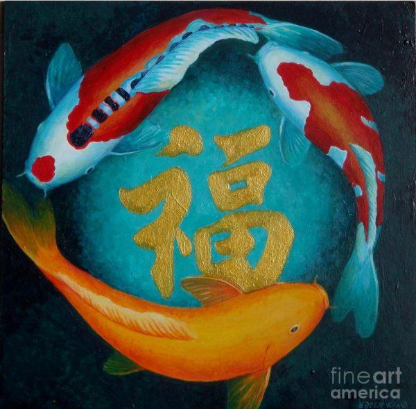 Bộ sưu tập cá chép trong tranh gửi thông điệp chúc phúc ngày xuân - H2