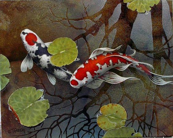 Bộ sưu tập cá chép trong tranh gửi thông điệp chúc phúc ngày xuân - H3