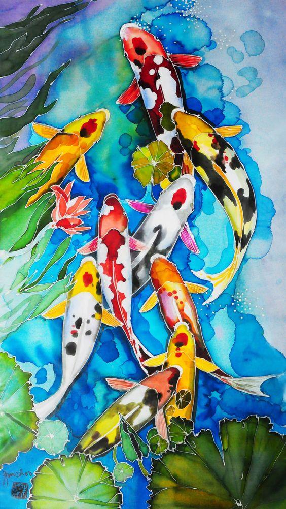 Bộ sưu tập cá chép trong tranh gửi thông điệp chúc phúc ngày xuân - H6
