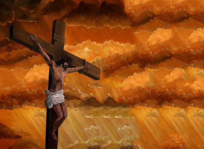Chúa Jesus bị đóng đinh, bậc giác ngộ hy sinh, đấng Giác giả độ nhân.