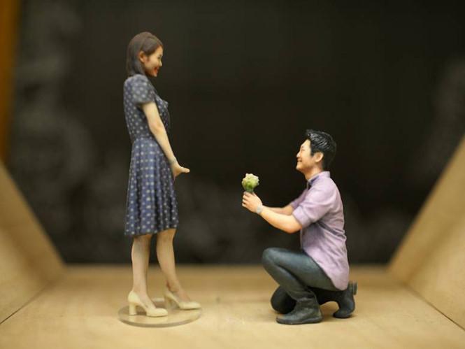 Bức tượng nhỏ cao từ 5-30cm được tạo ra bằng công nghệ in 3D