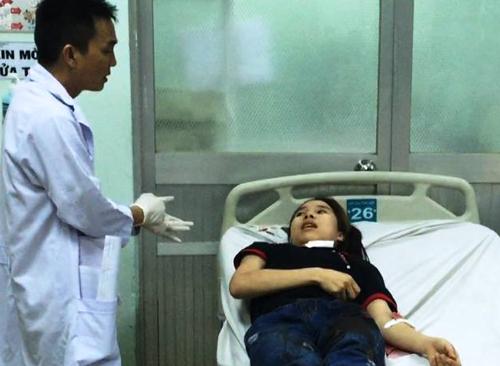 Nạn nhân tại bệnh viện.