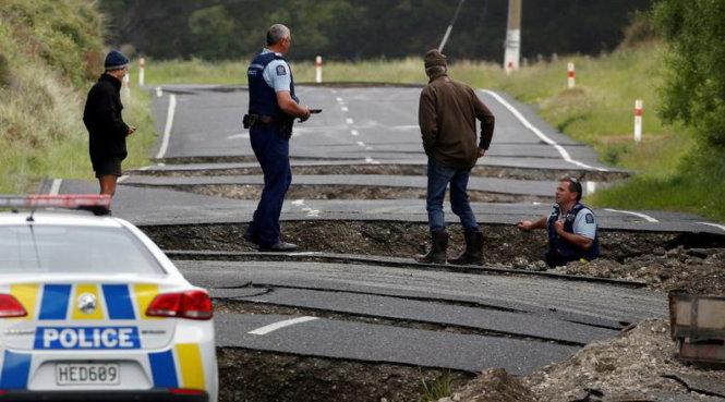 rận động đất đã gây thiệt hại nghiêm trọng cho New Zealand. (Ảnh: Reuters)