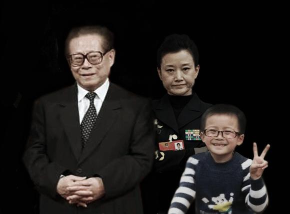 Dân mạng chế ảnh Giang Trạch Dân, Tống Tổ Anh và đứa bé được cho là con của hai người.
