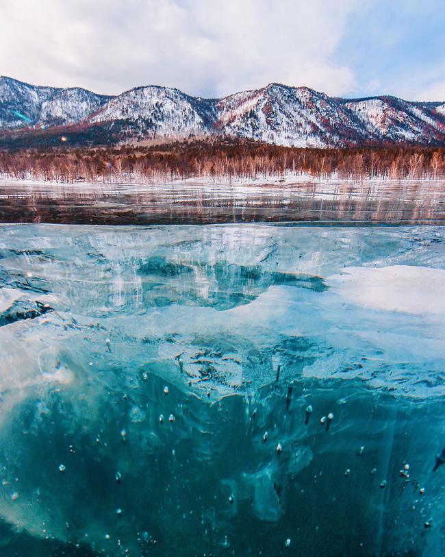 Ngắm nhìn hồ băng đẹp như cổ tích ở miền nam nước Nga.10