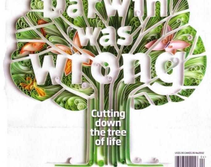 Ảnh chụp bài báo trên New Scientist khẳng định thuyết tiến hóa của Darwin là sai.