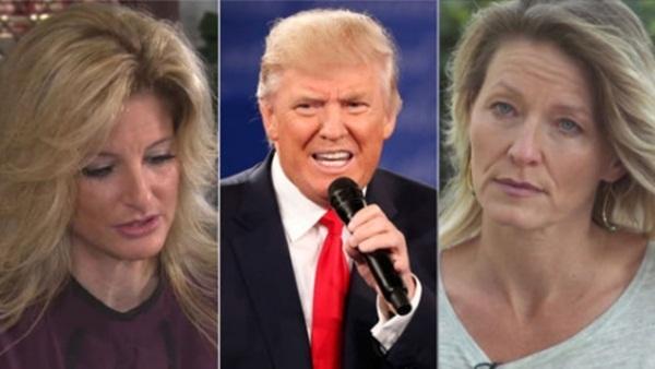 Summer Zervos (từ trái sang), Donald Trump và Kristin Anderson. Ảnh: SkyNews.