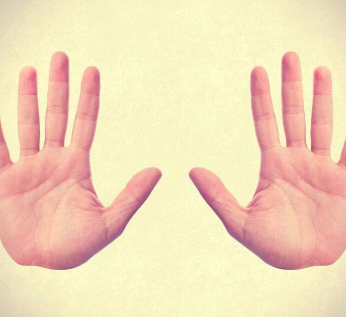 Bàn tay có hình chữ nhật