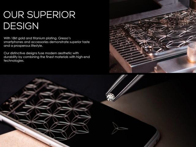 Gresso là nhãn hiệu sản xuất điện thoại, phụ kiện xa xỉ. Ảnh: Phone Arena.