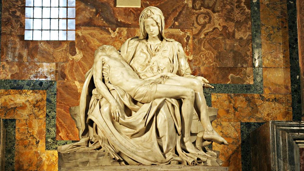 Pieta - nhà thờ thánh Peter -Rome (1498–99) Kiệt tác bất hủ của Michelangelo. (Ảnh: )