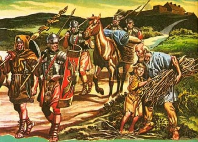 Quân lính La Mã đi tuần trên đường (ảnh: Crystalinks)