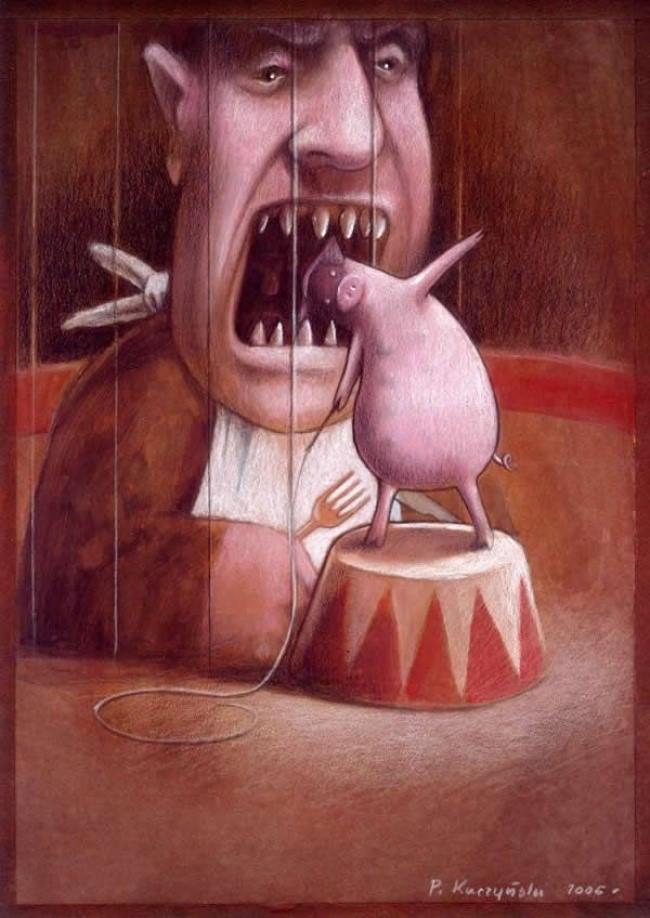 Thói ăn uống vô độ biến con người thành quái vật đáng sợ nhất hành tinh.