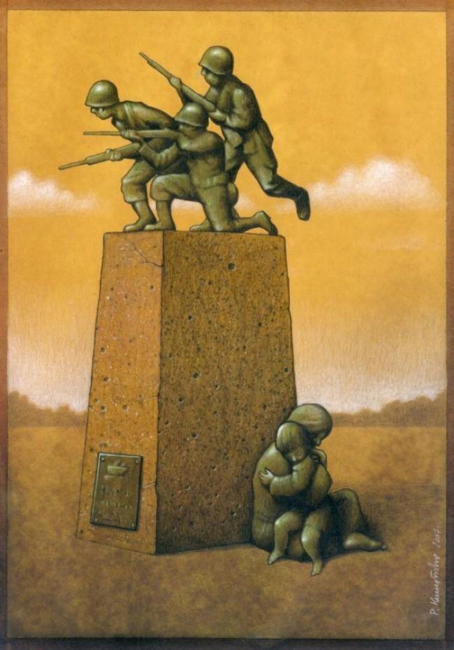 Người ta dựng tượng đài tưởng nhớ các chiến sĩ anh dũng hy sinh trong chiến tranh mà quên mất rằng, phía sau đó là nỗi đau của những người bị mất đi người thân