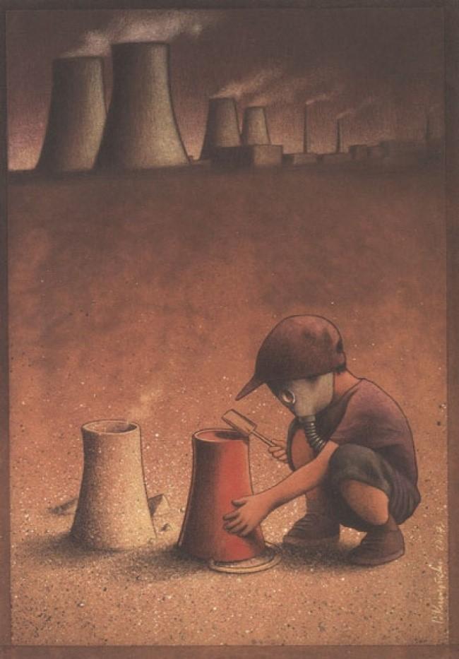Những đứa trẻ hồn nhiên, vô tư không nhận ra ảnh hưởng nghiêm trọng của ô nhiễm môi trường sống.