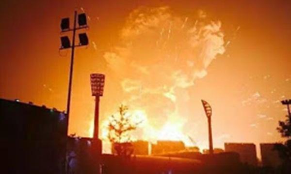 Vụ nổ tại Thiên Tân, Ngày 12/8/2015.