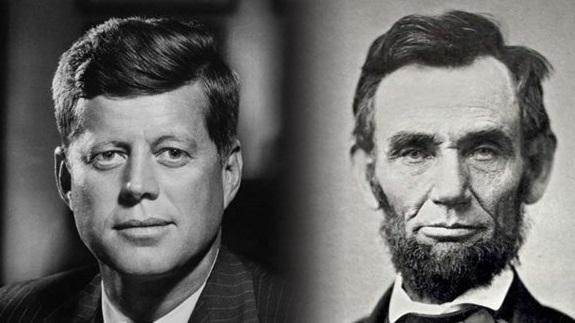 2 vị cố Tổng thống Mỹ Abraham Lincoln và John F. Kennedy.