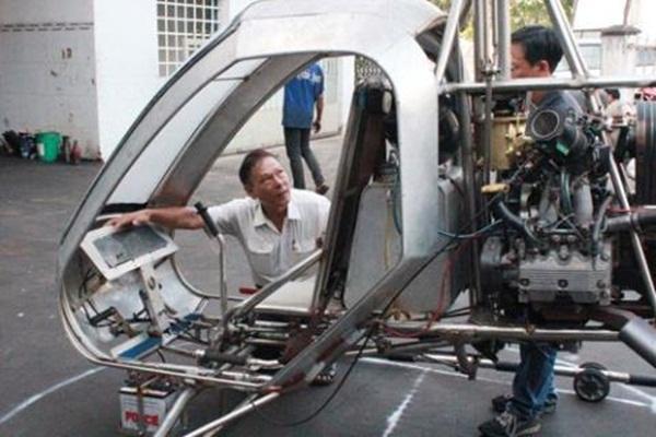 Chiếc máy bay đang trong giai đoạn chế tạo.