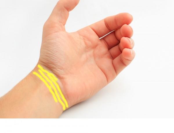 Bốn ngấn trên cổ tay