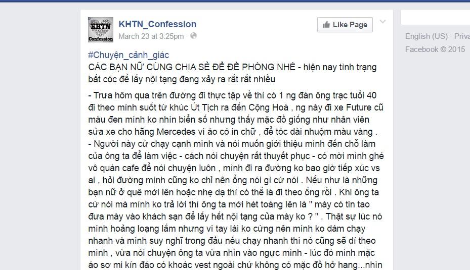 facebook canh bao