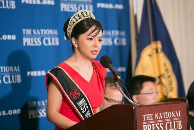Hoa hậu Thế giới Canada đàm luận về kiểm duyệt và tự do ngôn luận.1