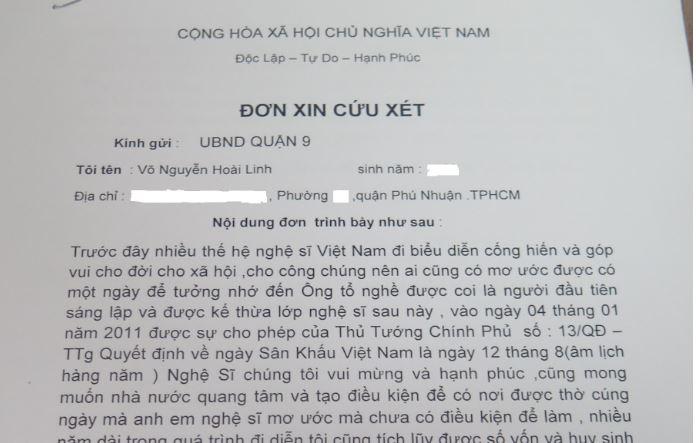"""Danh hài Hoài Linh viết """"đơn xin cứu xét"""" mong giữ lại nhà thờ tổ - H2"""