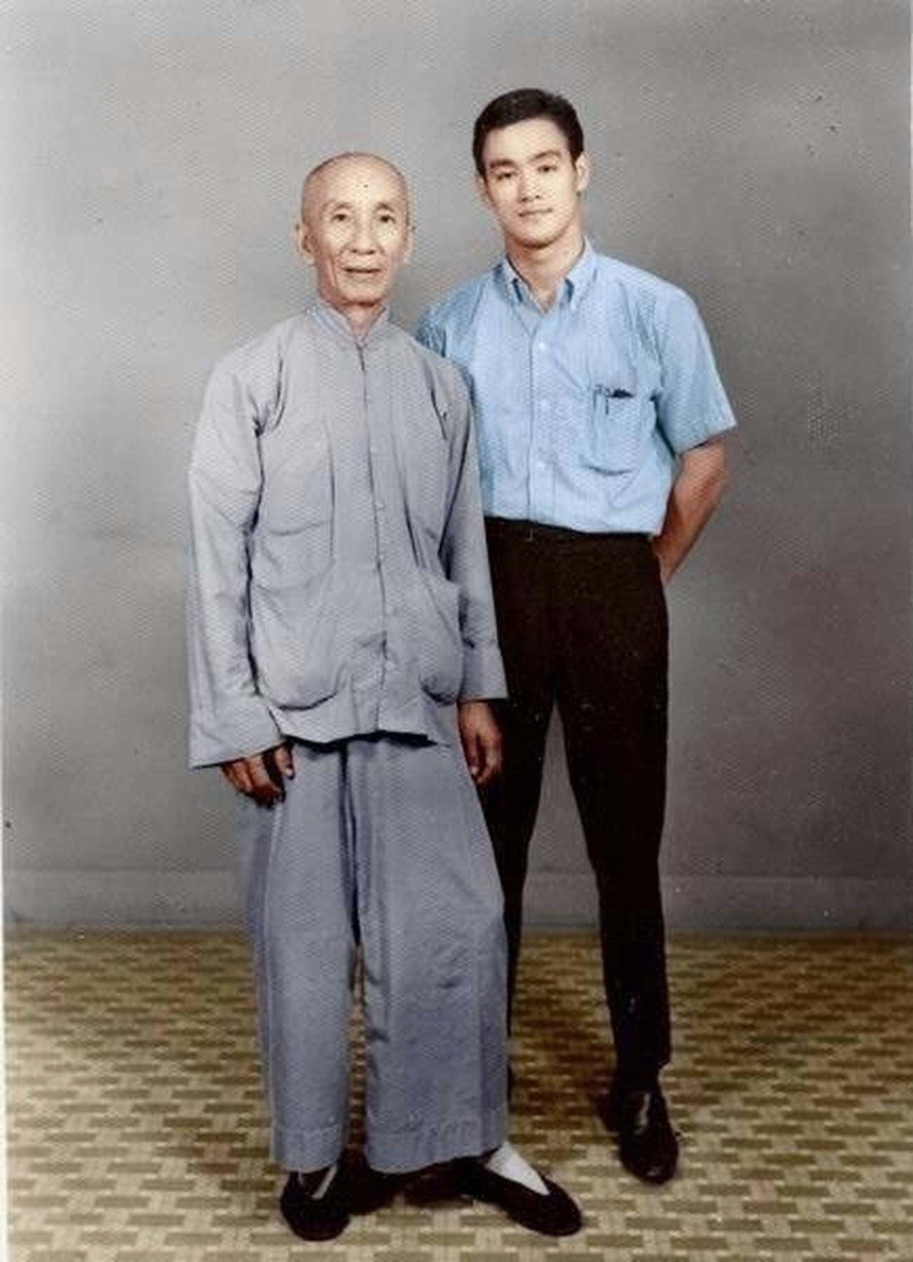 Lý Tiểu Long và sư phụ Diệp Vấn
