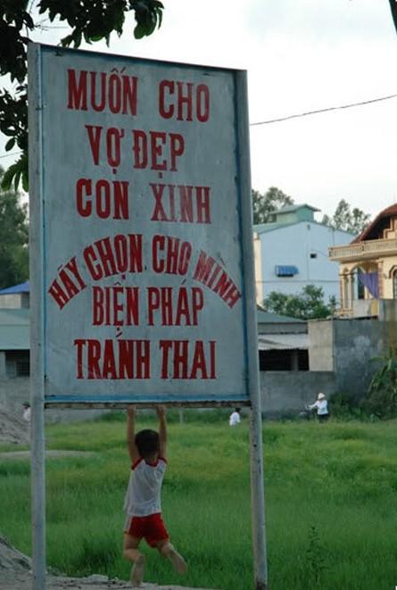 Những câu khẩu hiệu siêu hài hước chỉ có ở Việt Nam.8