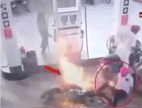 Gọi điện thoại gần trạm xăng gây hỏa hoạn thế nào - H2
