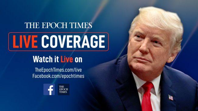 Tổng thống Trump trên trang giới thiệu một chương trình phát sóng của Epoch Times