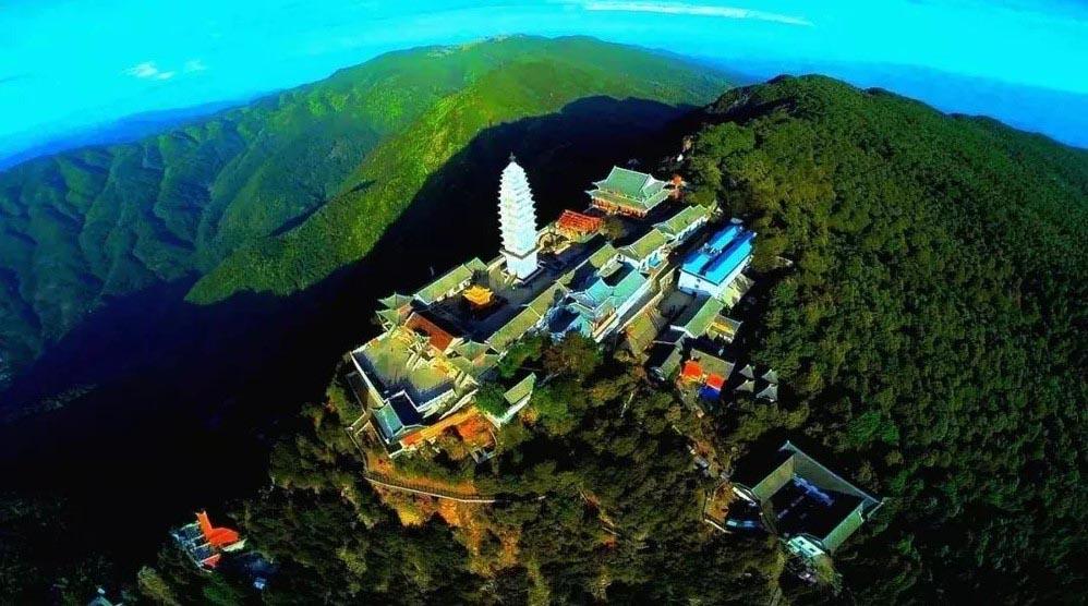 Tại sao Đại Ca Diếp đến Kê Túc sơn chờ Phật Di Lặc? - Núi Kê Túc nhìn từ trên cao