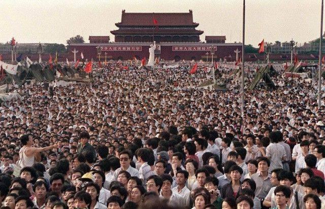 Cuộc biểu tình ở Quảng trường Thiên An Môn năm 1989.