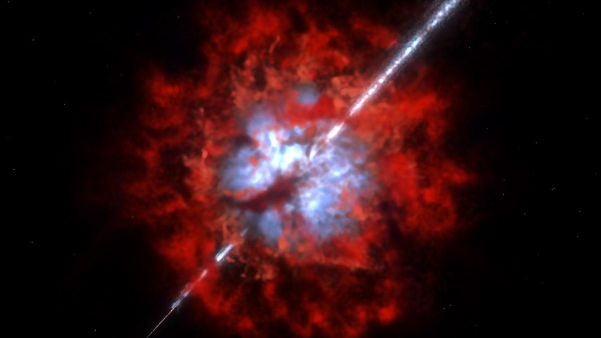 Các nhà thiên văn học chụp được vụ nổ cực lớn trong vũ trụ - ảnh 3