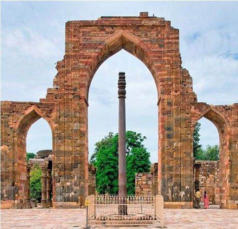 Cột sắt không gỉ ở Ấn Độ thể hiện kỹ thuật luyện kim tài giỏi của người cổ đại.