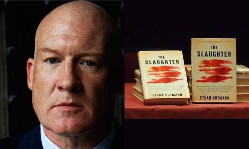 """Nhà báo điều tra độc lập được đề cử Nobel Hòa Bình Ethan Gutmann và cuốn """"The slaughter"""" (Đại thảm sát) nói về vấn đề mổ cướp nội tạng người tập Pháp Luân Công tại Trung Quốc."""