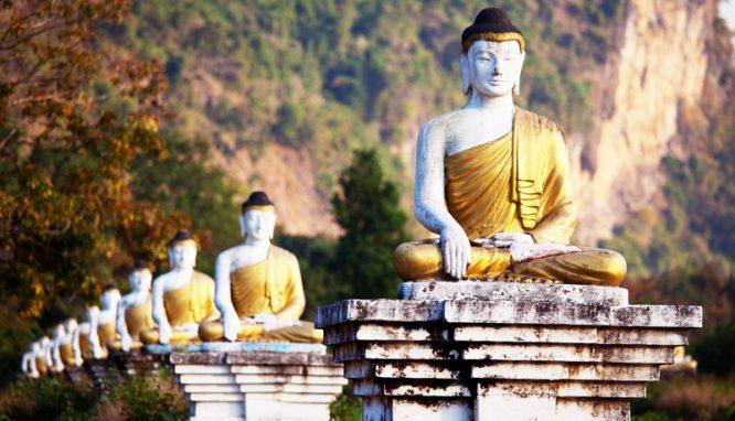Bức tượng vàng tiên đoán thời gian tại vị của 3 vì Hoàng đế Đường triều.1