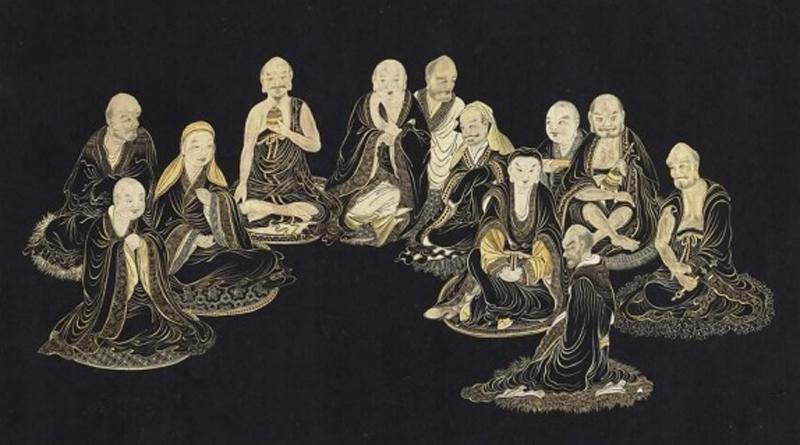 Các vị La Hán ngồi xếp bằng (Viện Bảo tàng quốc lập Cố Cung)