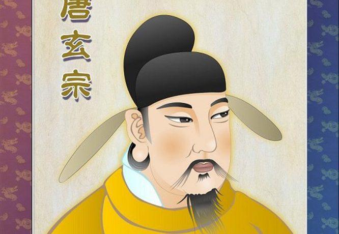 Bức tượng vàng tiên đoán thời gian tại vị của 3 vì Hoàng đế Đường triều.2