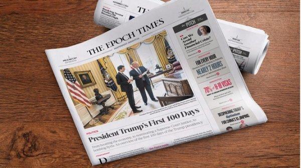 Ông Trump nói Epoch Times là tờ báo đáng tin cậy