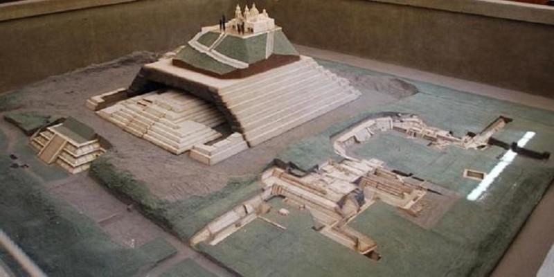 Mô hình thành phố và Kim tự tháp Cholula. Bảo tàng Cholula, Puebla, Mexico. (Ảnh: ancient-code.com)