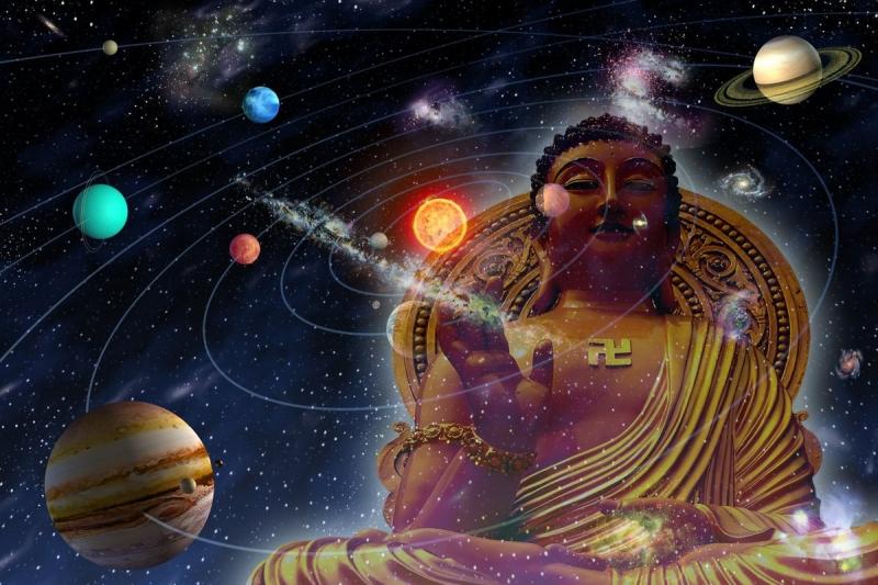 """Đức Phật cũng có thuyết pháp về """"tam thiên đại thiên thế giới"""", vậy phải chăng cũng có 3.000 vũ trụ song song cùng tồn tại? (Ảnh minh họa)"""