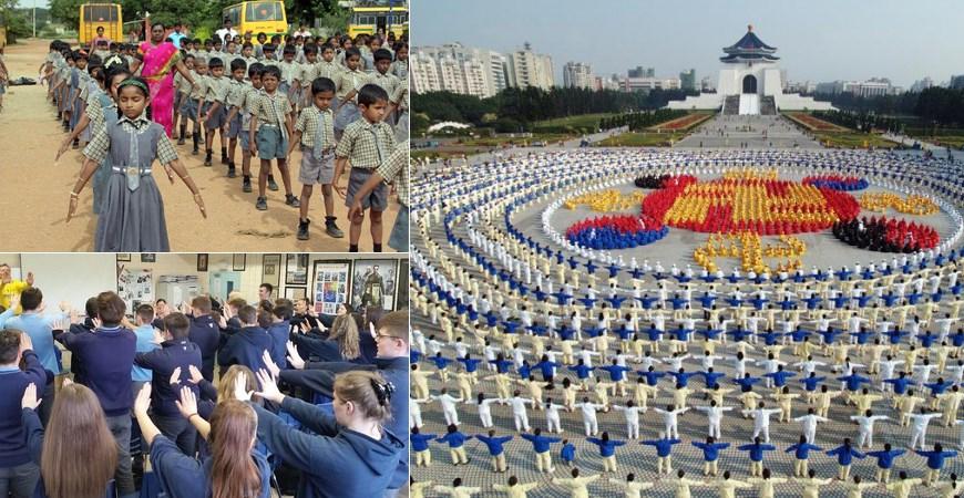 Pháp Luân Công tại các nước trên thế giới, được phổ biến tới cả trong trường học và quân đội. (Ảnh: T/h)